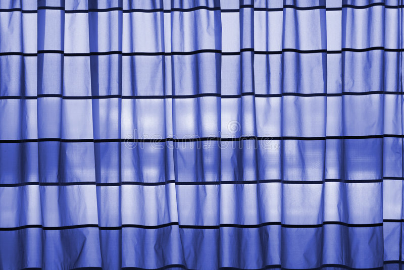 Rideau bleu photos stock
