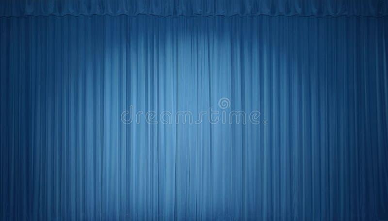 Rideau bleu en étape images libres de droits