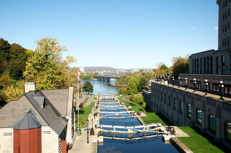 Download Rideau Canal Locks stock image. Image of canal, bridge - 27203861