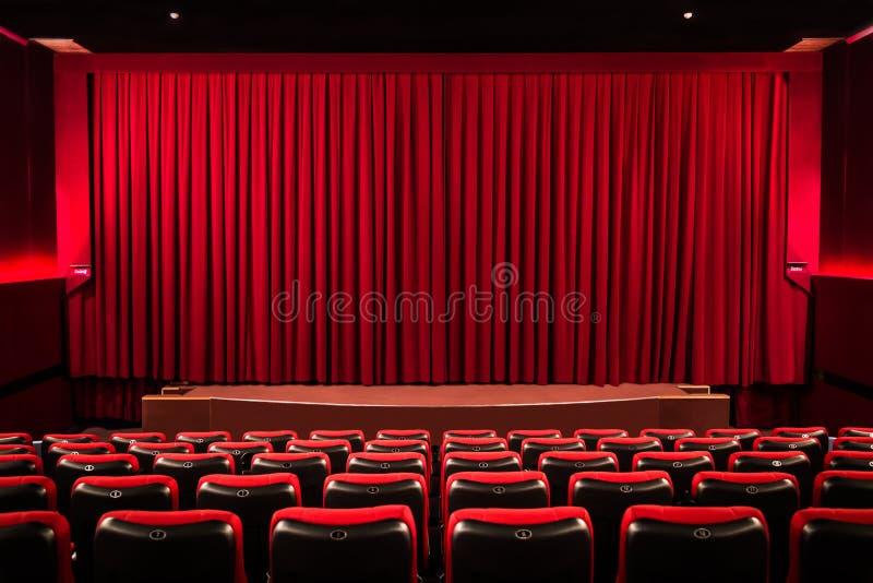 Rideau dans le cinéma image libre de droits