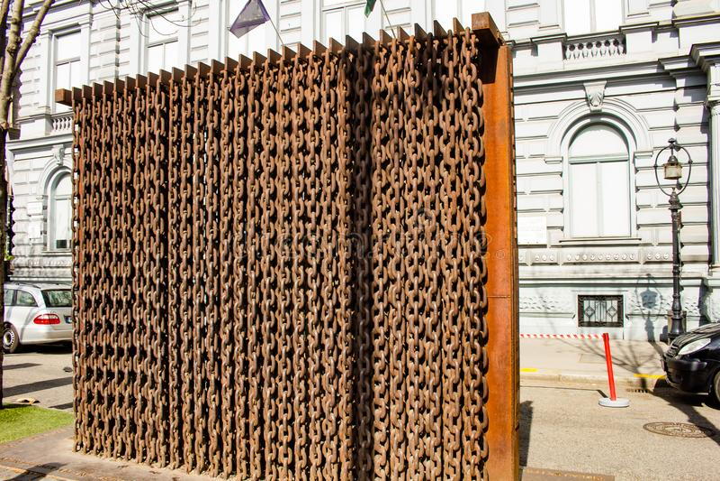 Rideau de fer Memoria, Budapest, Hongrie images stock