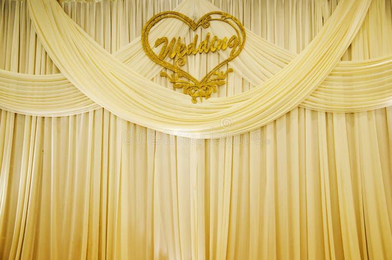 Rideau en mariage photo stock