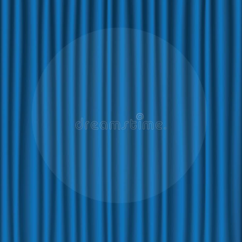 Rideau en soie bleu image libre de droits