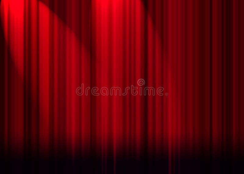 Rideau en théâtre illustration stock