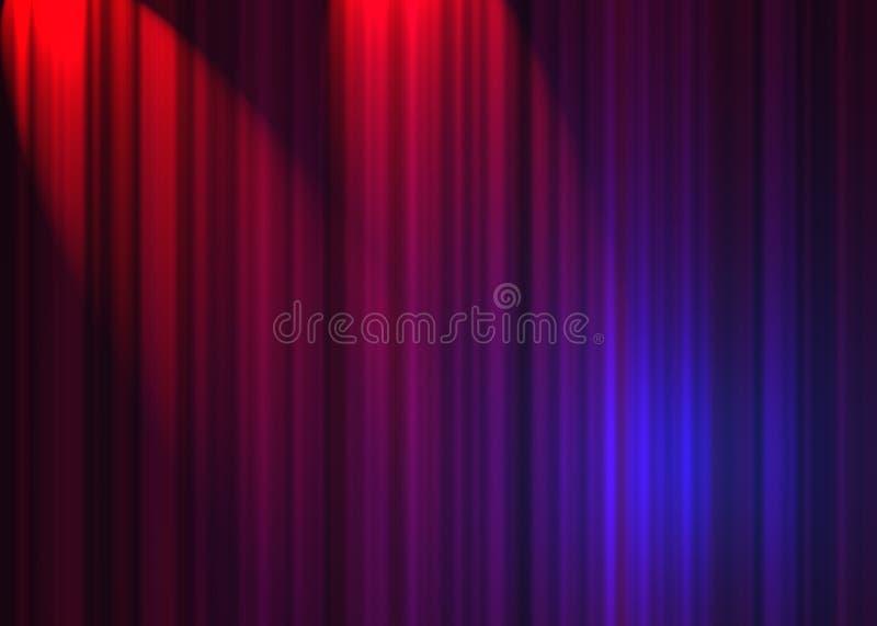 Rideau en théâtre illustration libre de droits