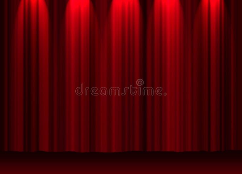 Rideau en théâtre illustration de vecteur
