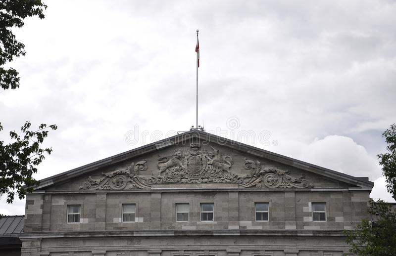 Rideau Hall building Gable details from Ottawa in Canada. On 26th June 2017 royalty free stock photography