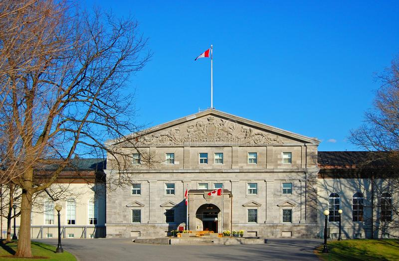 Rideau Hall in Ottawa, Kanada stockbild