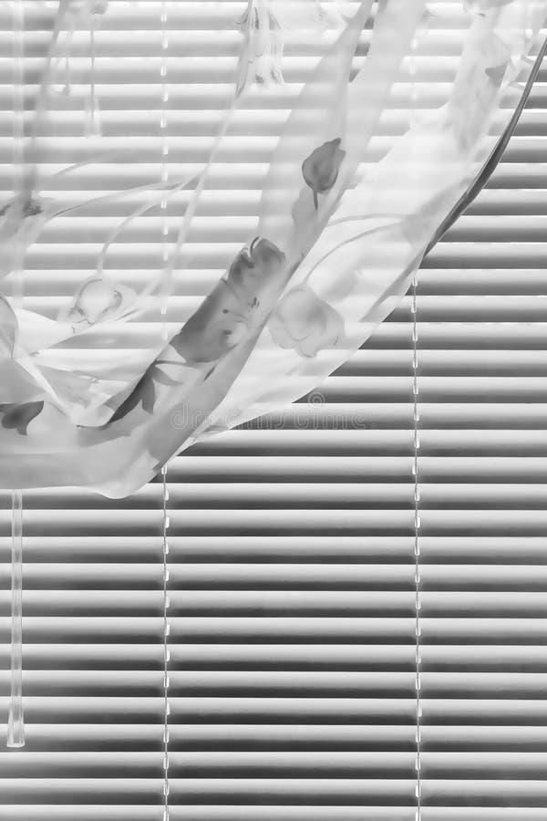 Rideau horizontal en abat-jour photo stock