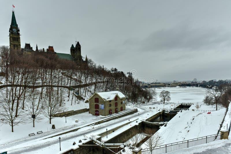 Rideau kanał - Ottawa, Kanada fotografia royalty free