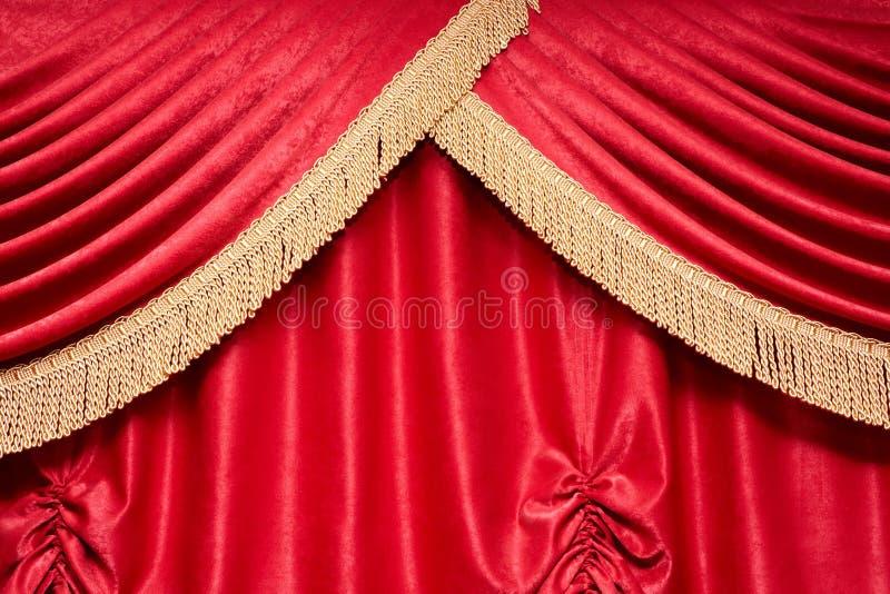 Rideau rouge images libres de droits