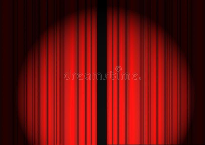 Rideau rouge illustration stock