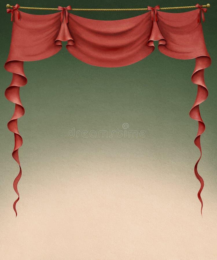 Rideau rouge illustration de vecteur