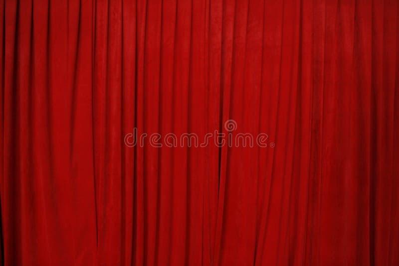 Rideau rouge en cinéma photos stock