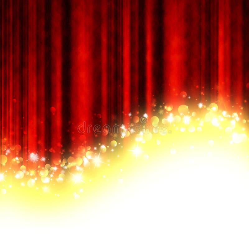 Rideau rouge en théâtre illustration de vecteur