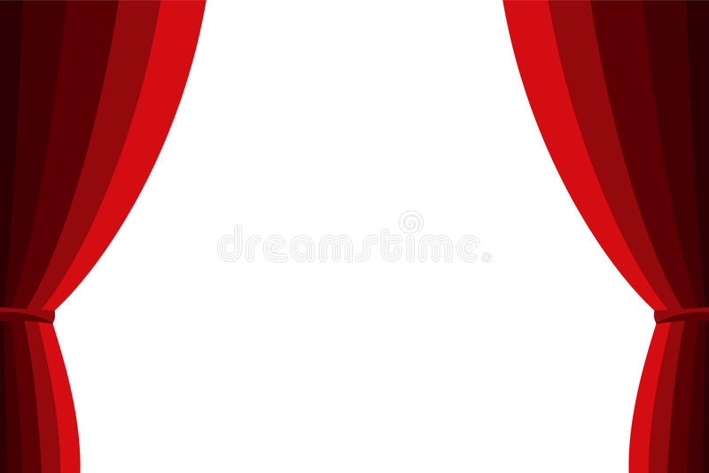 rideau rouge ouvert sur un fond blanc illustration de vecteur image 57170305. Black Bedroom Furniture Sets. Home Design Ideas