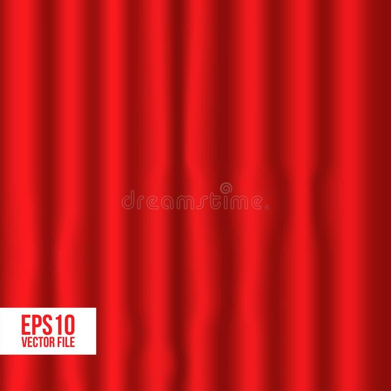 Rideau rouge pour la décoration sur le théâtre illustration stock