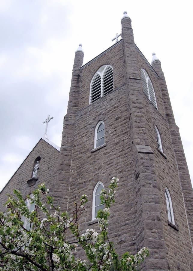 Rideaukanaal Merrickville St Ann Church 2008 stock foto