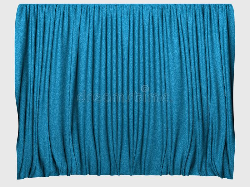Rideaux bleus illustration libre de droits