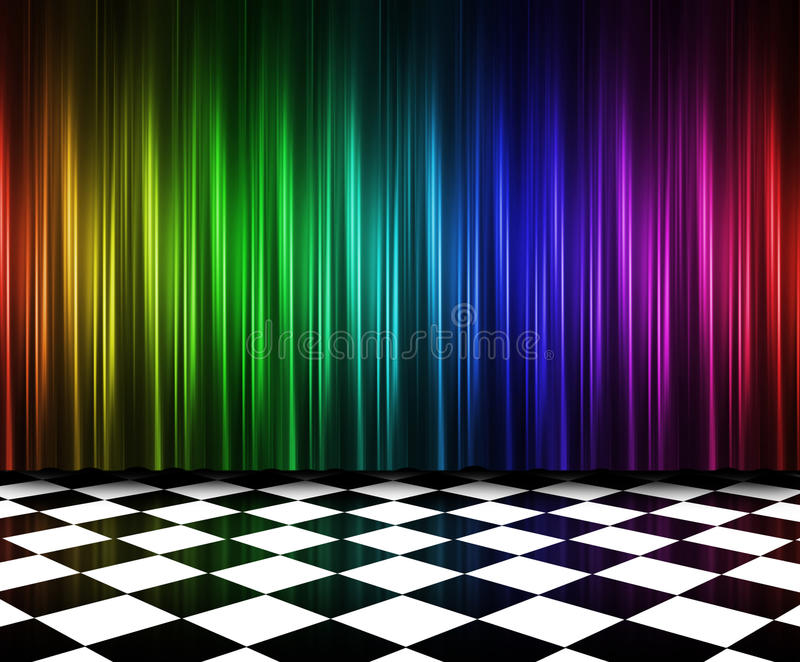 Rideaux dans des couleurs multi illustration de vecteur