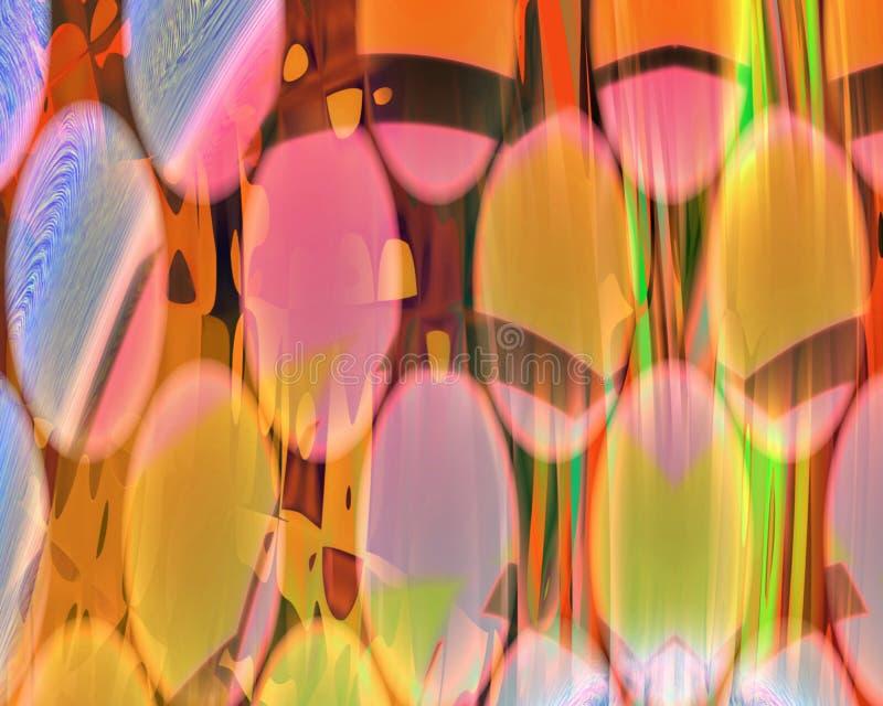 Rideaux génétiques en art par le mur des disques oranges illustration stock