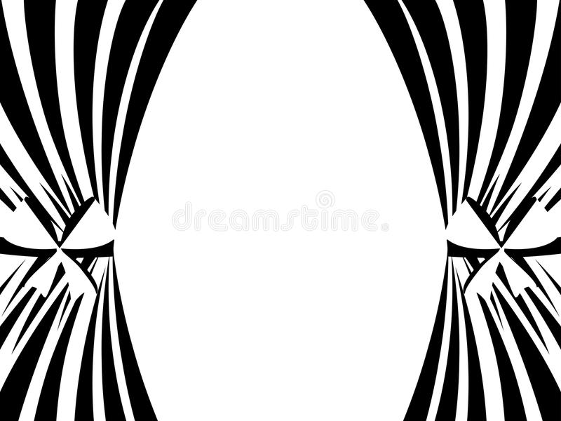 Rideaux noirs et blancs sur un fond blanc Vecteur illustration libre de droits