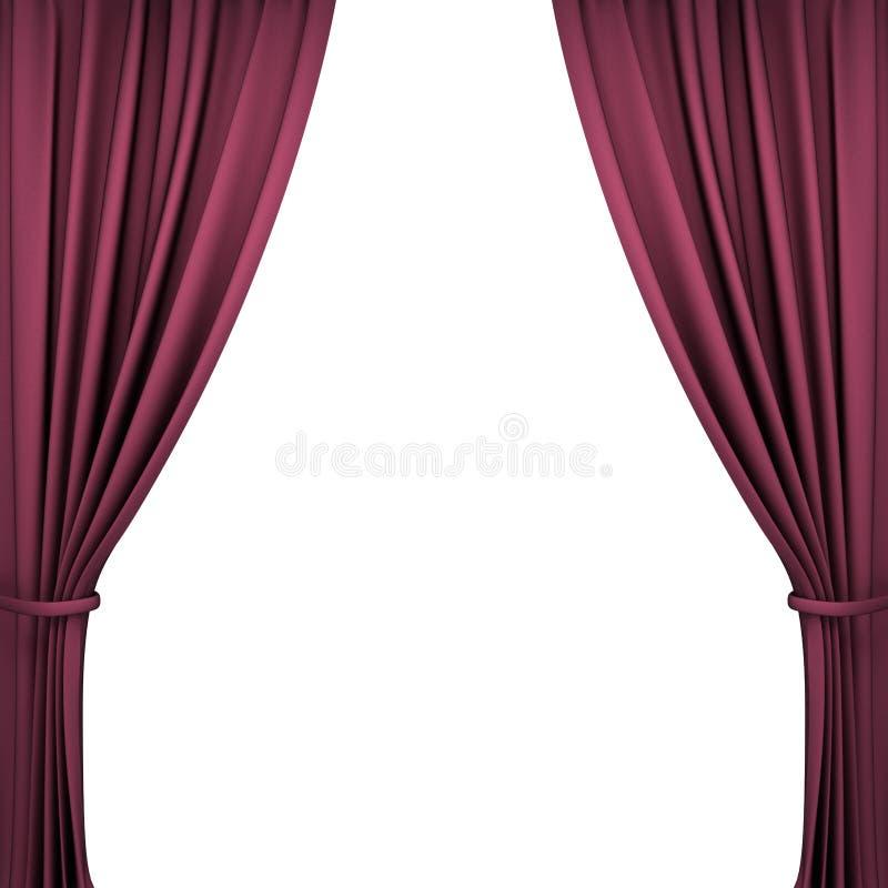 rideaux rouges en th tre de velours illustration stock illustration du mat riel l gance. Black Bedroom Furniture Sets. Home Design Ideas