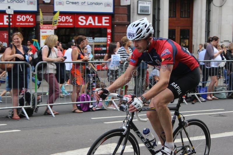 RideLondon cycling weekend royalty free stock photo