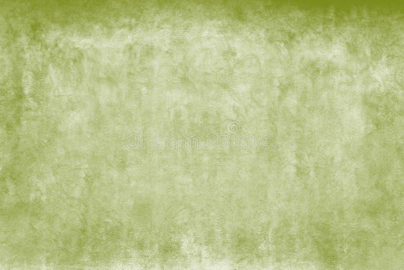 Riden ut grov fasadvägg för gröna och vita vattenfärger som en tom lantlig bakgrund arkivbild