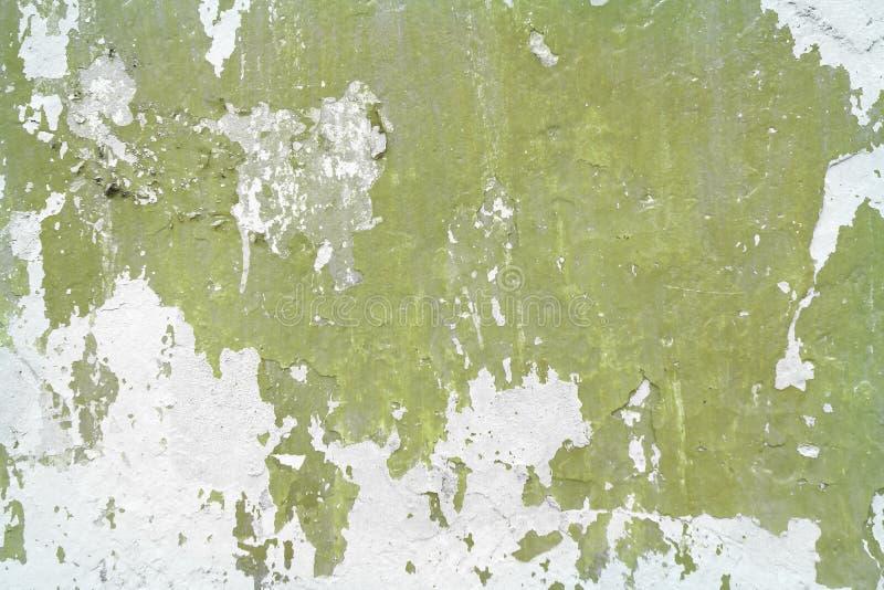 Riden ut murbruk med sprucken målarfärgtextur - underbar abstrakt fotobakgrund arkivfoto