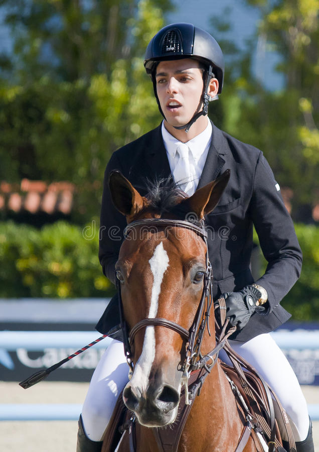 Rider ANDRADE, Emanuel. Venezuela. CSIO Barcelona. CSIO Barcelona. 103rd International Jumping Competition. Furusiyya FEI Nations Cup royalty free stock images