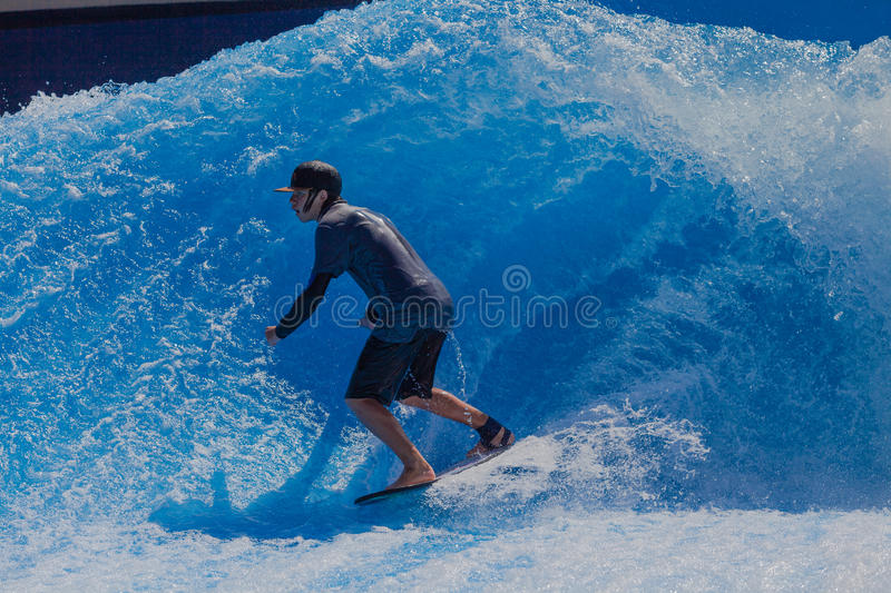Download Surfing Fun Wave Pool editorial photo. Image of excitement - 29460221