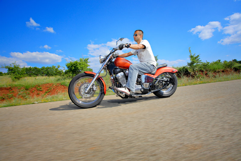 Download Rider on a chopper stock image. Image of landscape, panorama - 6166349