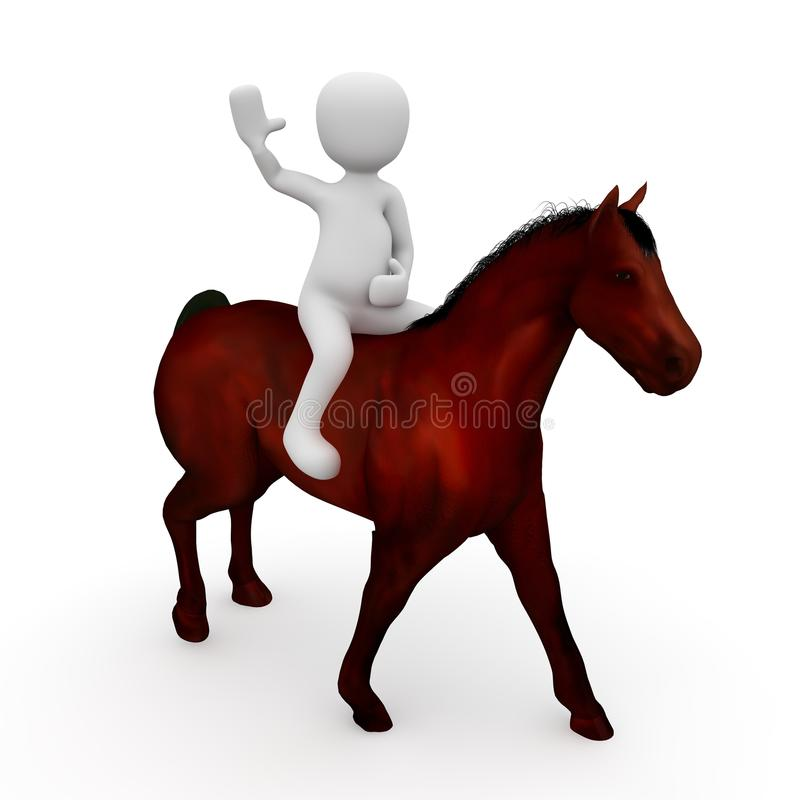 A rider on horseback vector illustration