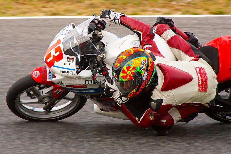 Rider Mario Lujan MC Zakteam stock foto's