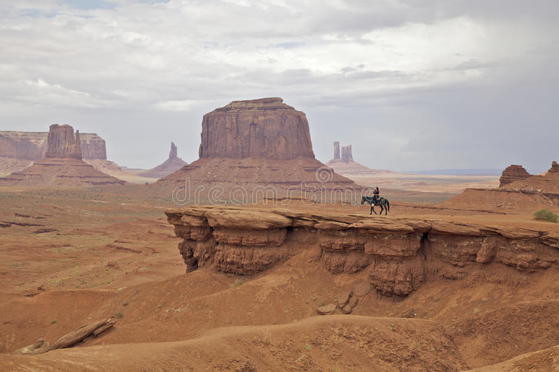 Rider in Monument Valley