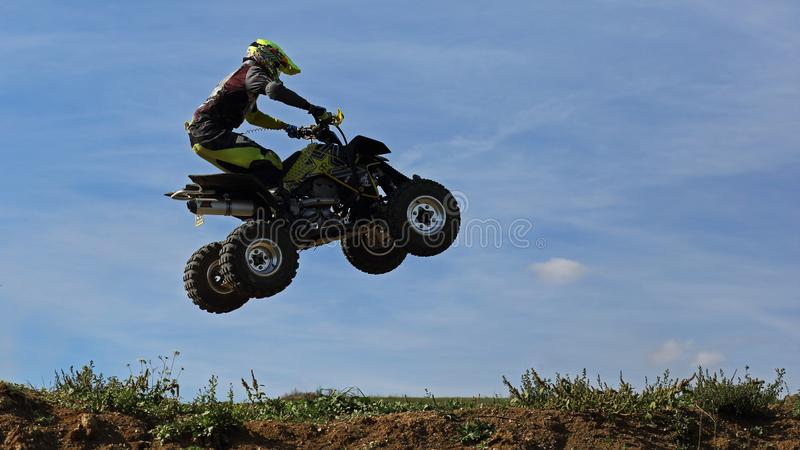 Rider during Quad cross training race, Sport royalty free stock images
