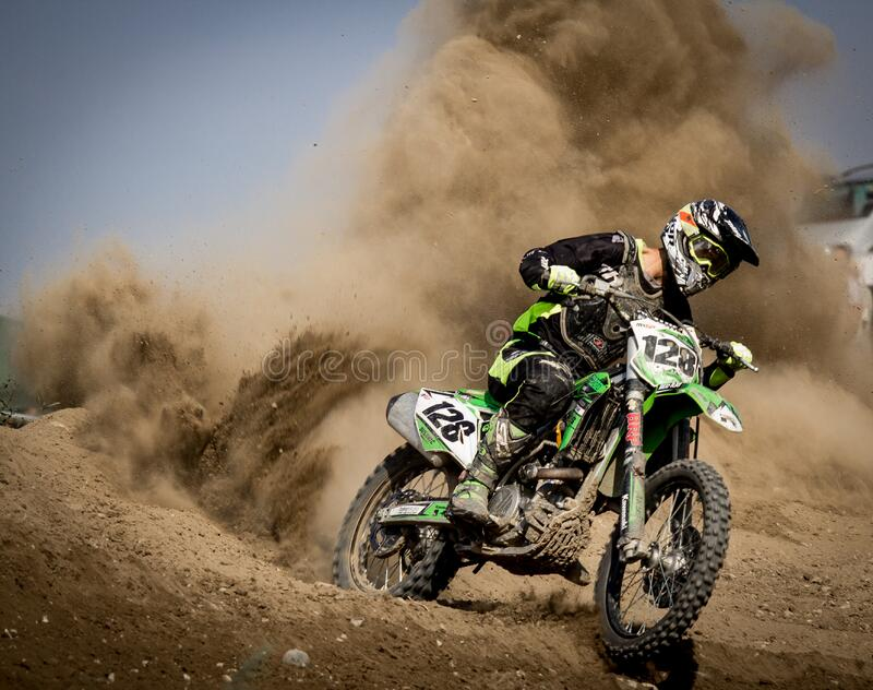 Rider Riding Green Motocross Dirt Bike Free Public Domain Cc0 Image