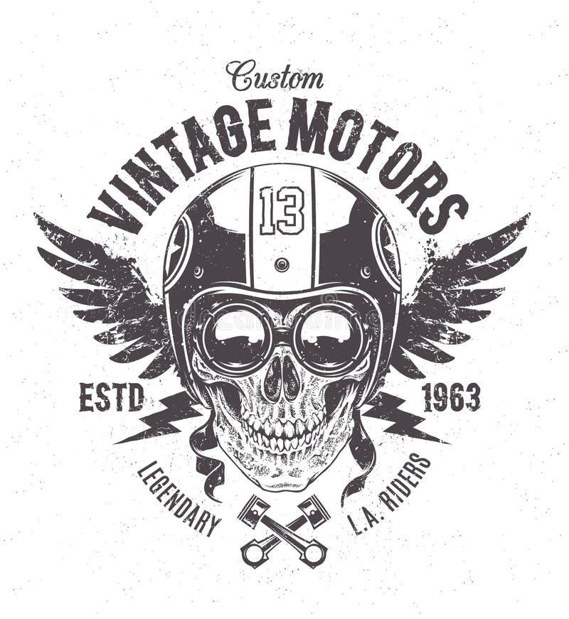 Rider Skull Print illustrazione vettoriale