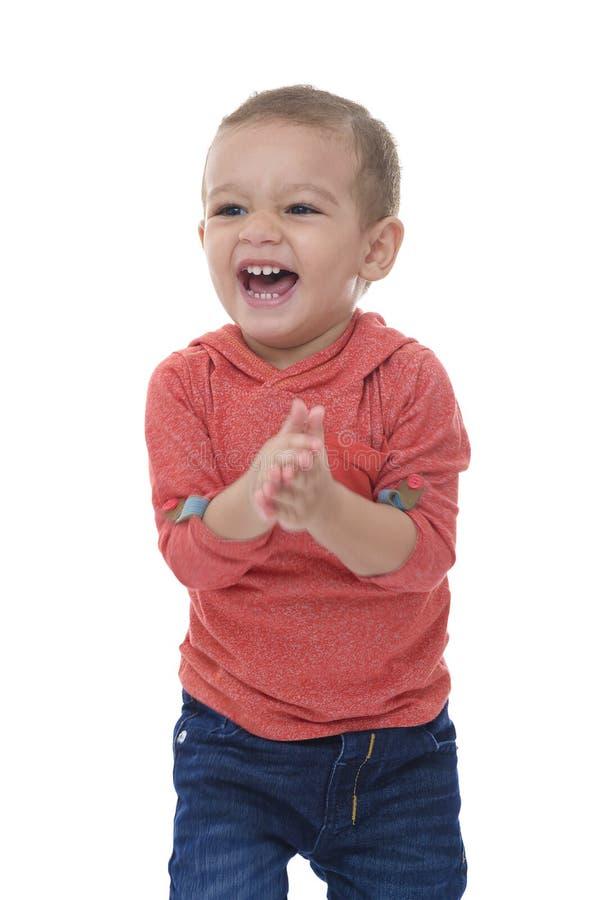 Ridere fragorosamente felice del bambino fotografia stock libera da diritti