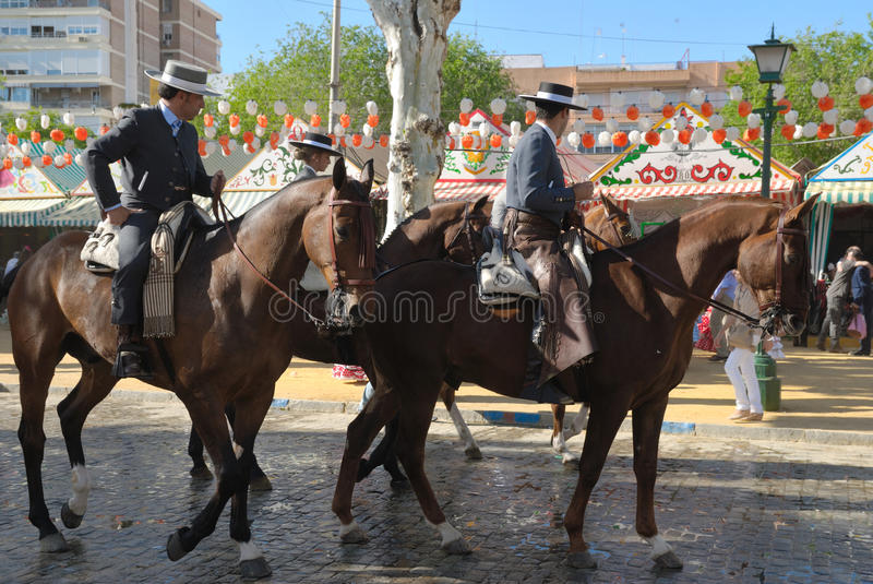 Download Riders At The Fair In Seville Editorial Stock Image - Image: 24488479