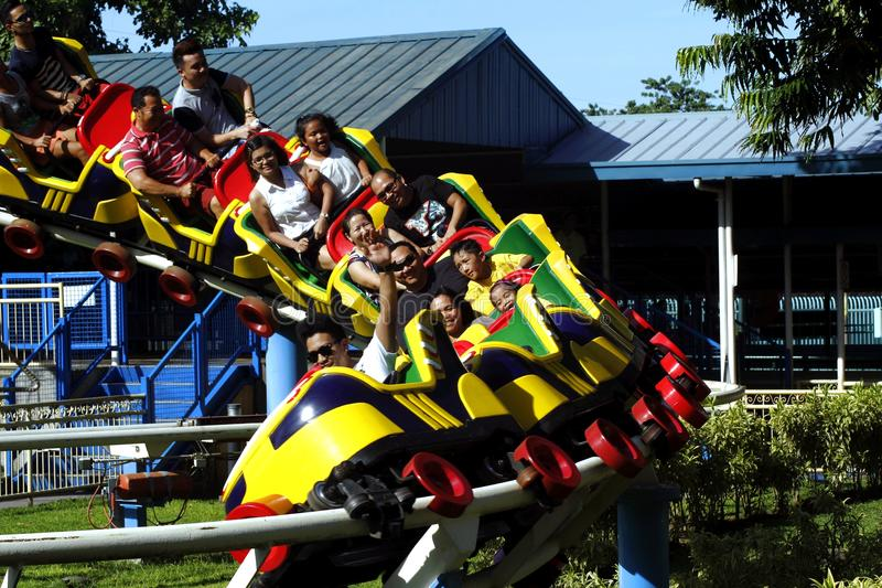 Rides, sites and attractions inside Enchanted Kingdom. STA. ROSA, LAGUNA, PHILIPPINES - JULY 1, 2016: Rides, sites and attractions inside Enchanted Kingdom. A royalty free stock image