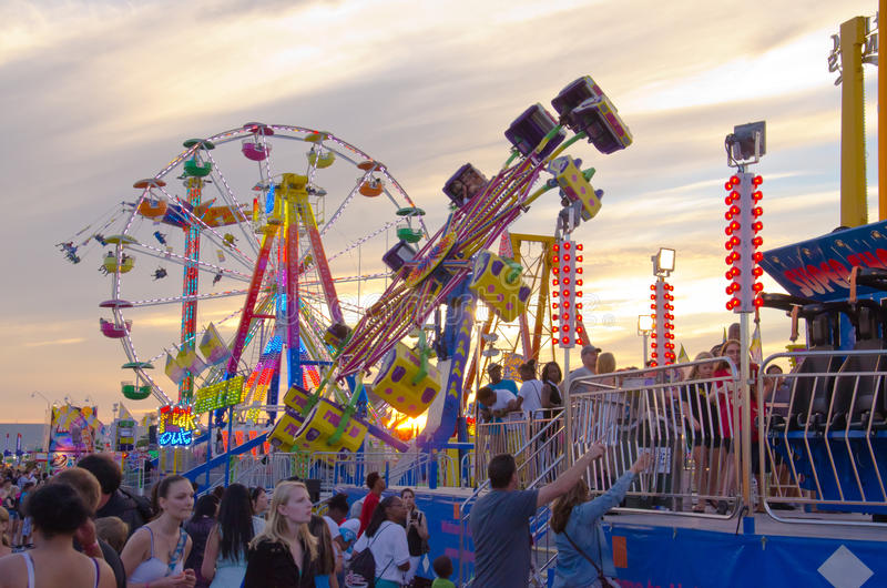 Rides At Sunset Editorial Stock Image