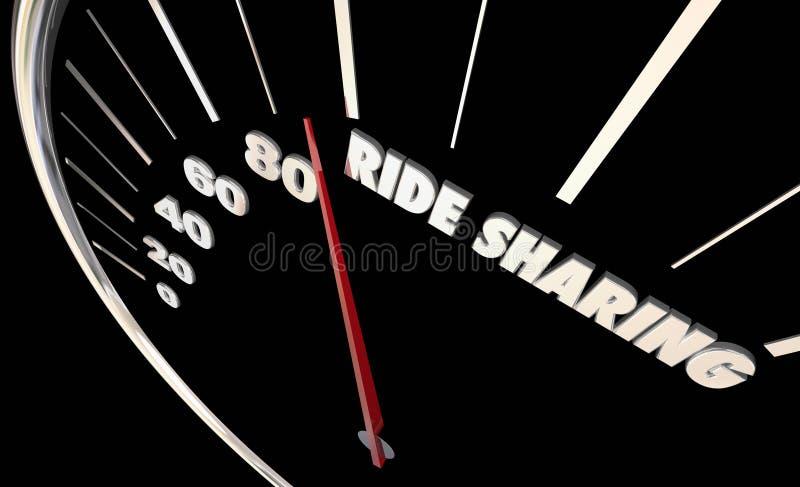 Rideshare合伙使用汽车使换中档车汽车 库存例证