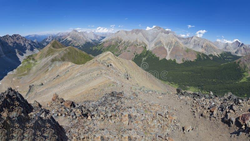 Ridge alpin dans Rocky Mountains Alberta Canada photos libres de droits