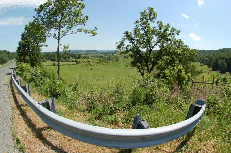 Ridge Appalachia Roadside Scenic - Boyce Virginia bleus photo stock