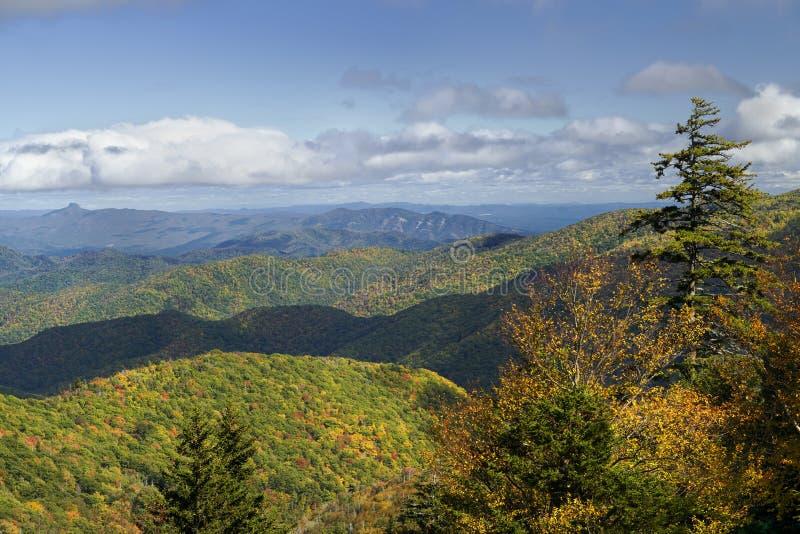 Ridge Junction på Blue RIdge Parkway i North Carolina, USA royaltyfri foto