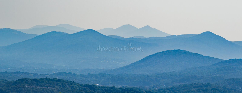 Ridge Mountains azul de Virginia, los E.E.U.U. imagenes de archivo
