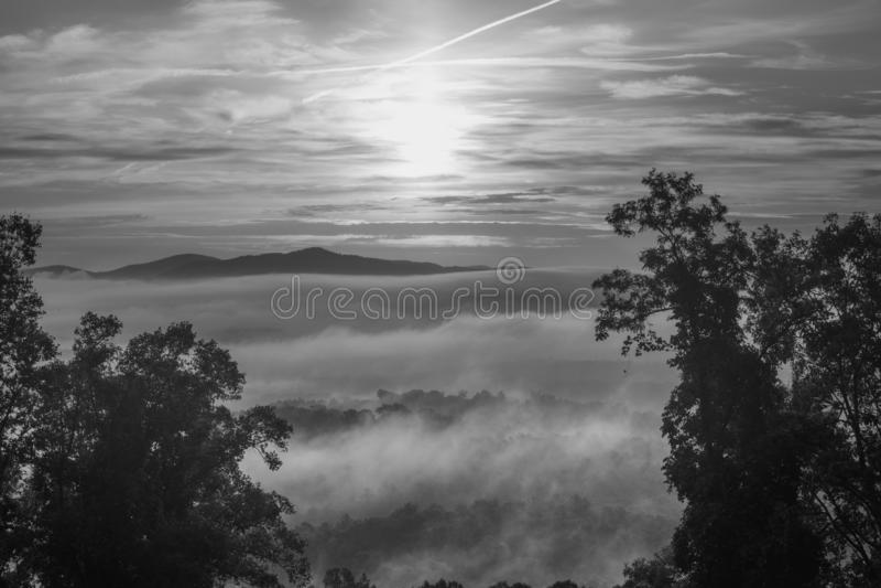 Ridge Mountains bleu en dehors d'Asheville photos libres de droits