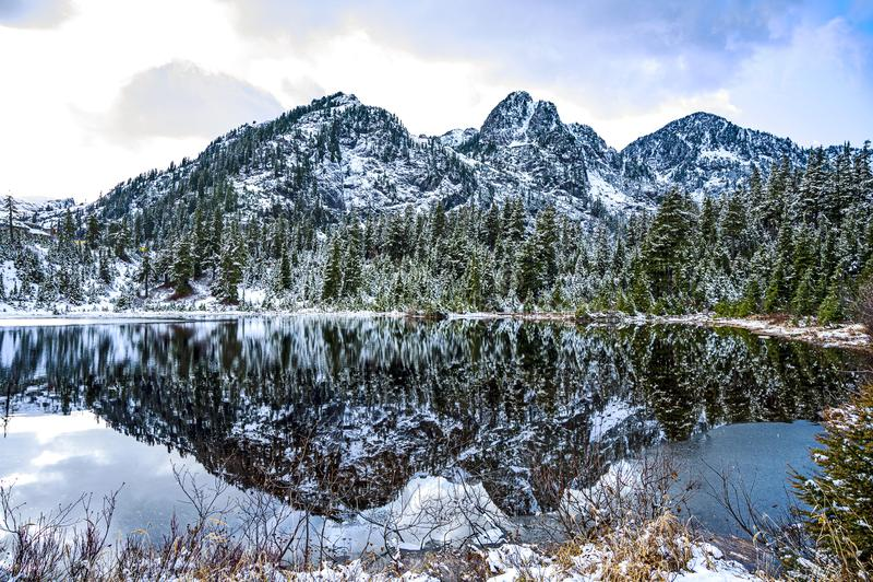 A ridge of North Cascades of Washington stock images